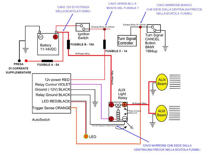 Schema Elettrico Per Fari Supplementari : Gs cablaggio fari e presa di corrente foto